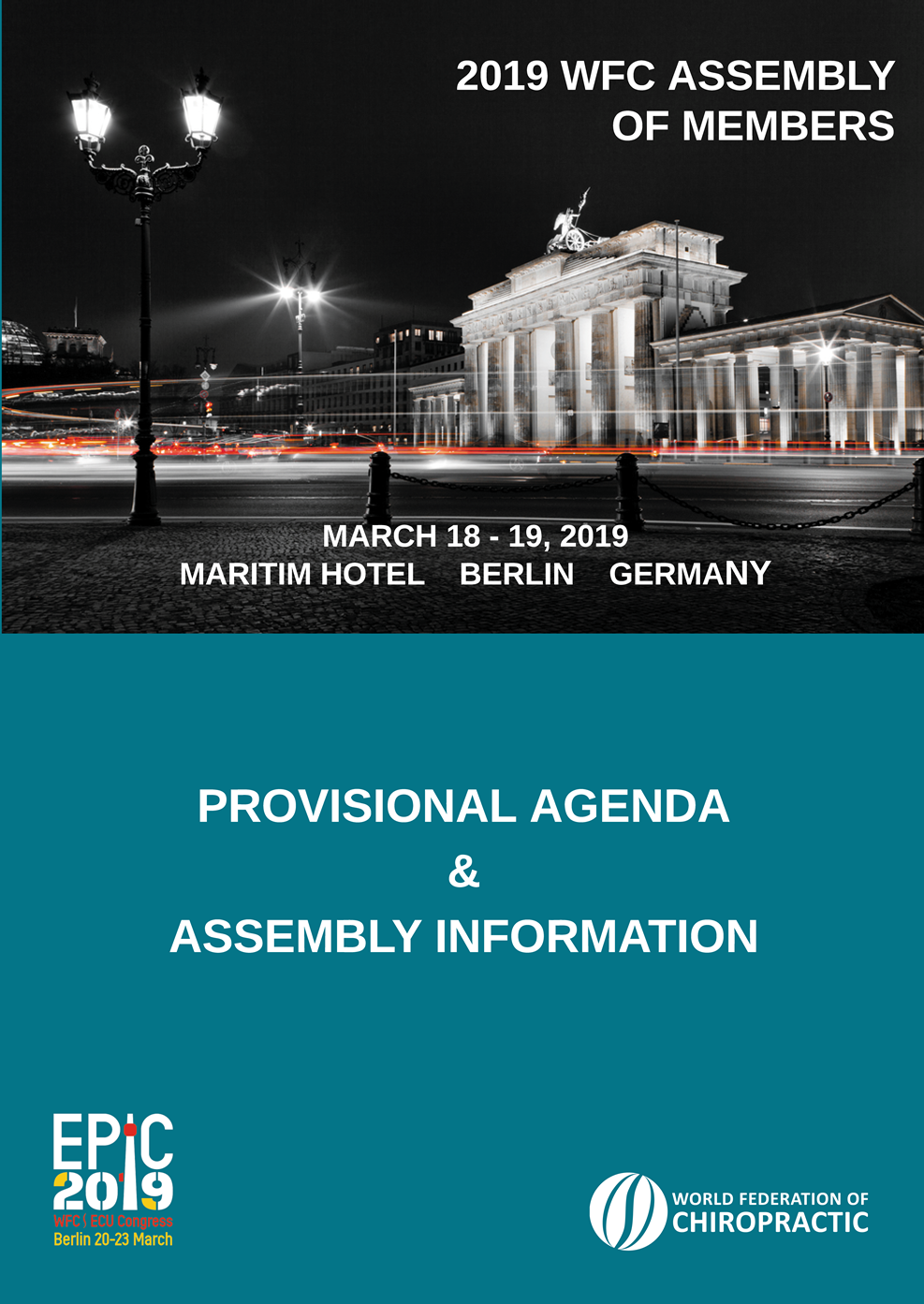 Coverpage WFC Assembly of Members overview and provisional agenda