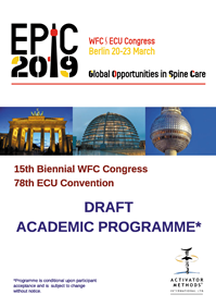 EPIC2019 Draft Academic Programme cover