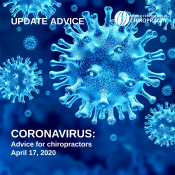 CORONAVIRUS advice note for chiropractors 2020 04 17 NEWS TILE